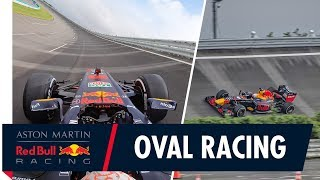 F1 goes oval racing! | Onboard with Max Verstappen at the Honda Test Facility