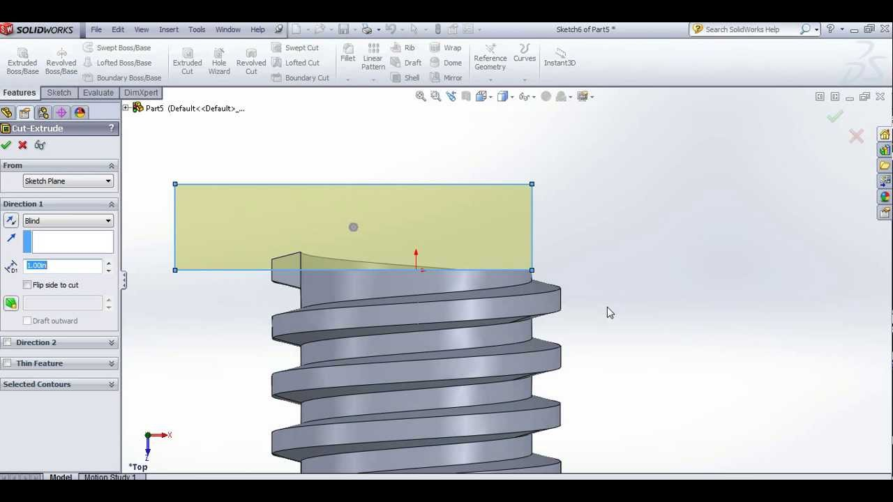 How To Create Acme Threads On Solidworks Youtube