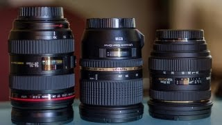 Canon vs Tamron VC vs Sigma 24-70mm 2.8 Comparison Review
