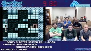 Blaster Master :: SPEED RUN (0:26:58) (PAL, 4-Boss) [NES] *Live at #SGDQ 2013*