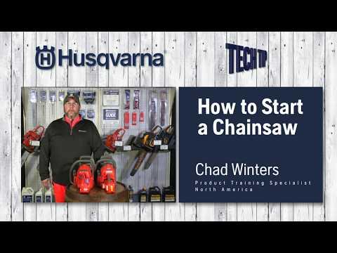How to Start a Husqvarna Chainsaw