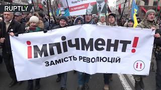 'Impeachment instead of revolution': Saakashvili-led march demands Ukrainian president's impeachment