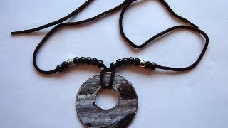 PAPER BEAD, DONUT PENDANT, how to diy, jewelry making, recycle cardboard