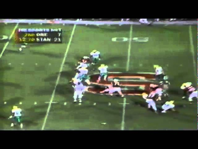 Oregon RB Derien Latimer 13 yard run vs. Stanford 9-27-1997