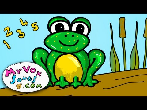 Five little speckled frogs - nursery rhymes and childrens songs