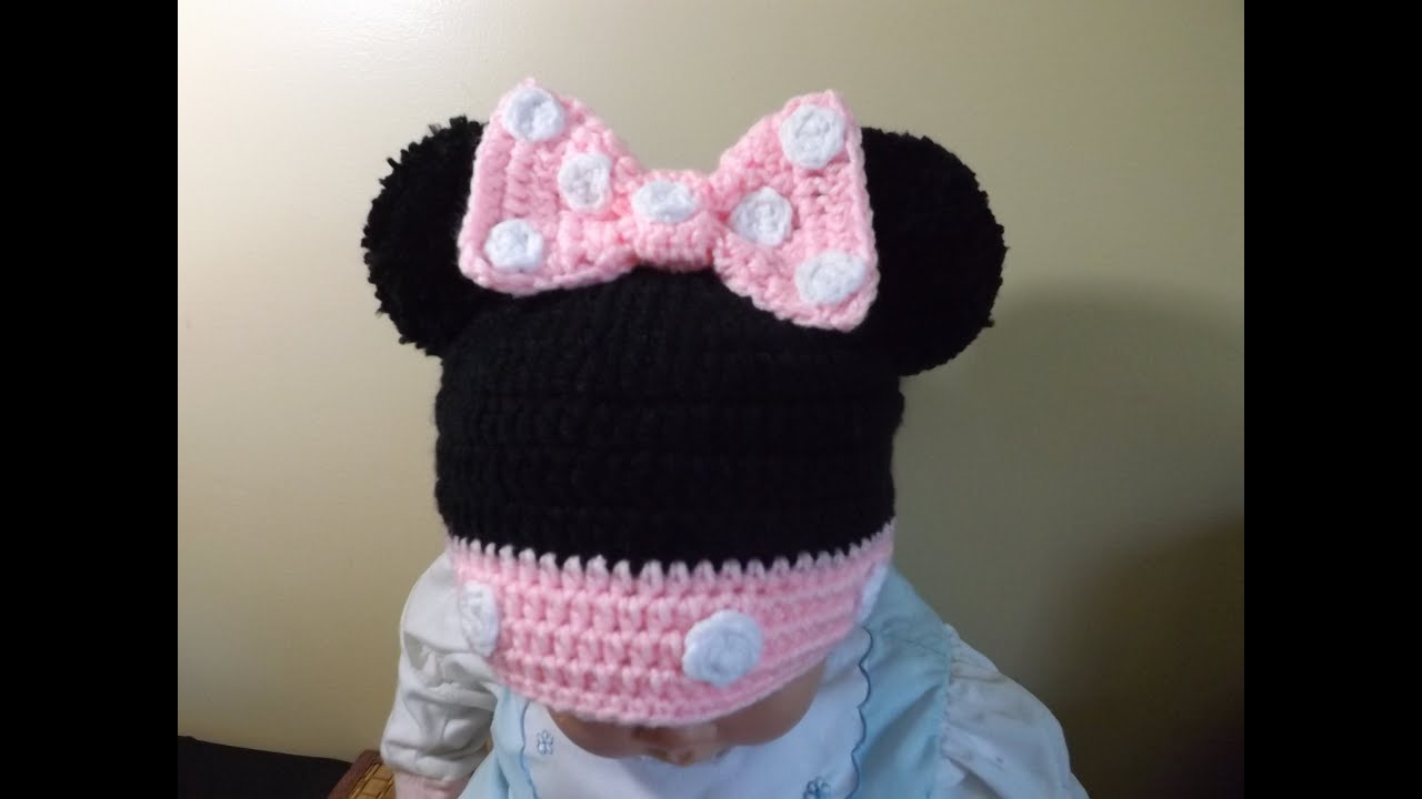 Youtubecroche : Crochet Minnie Mouse Hat - YouTube