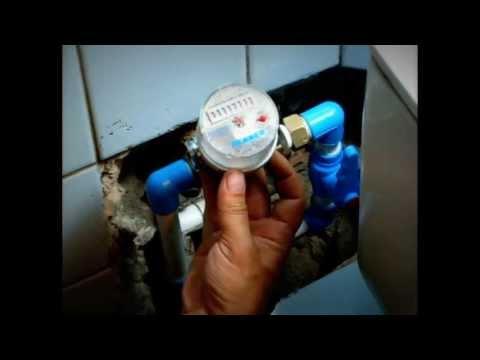 Установка водяного счетчика своими руками видео украина