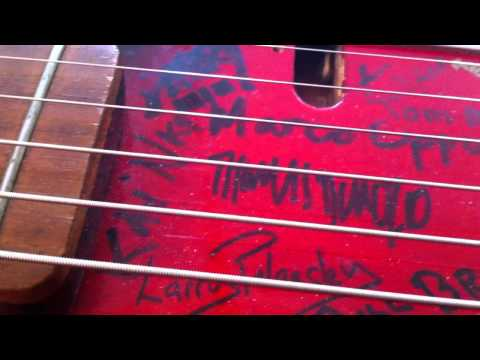 $100 Guitar Project, final signatures, Sept 12, 2012