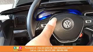 Ô tô điện trẻ em siêu sang bán tải Volkswagen Amarok 298 (Có bập bênh, Cánh mở, BH 1 năm)