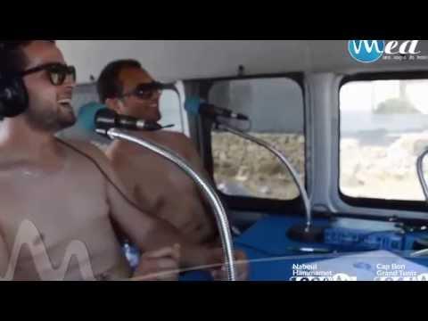 Sur la plage.. Beni Khiar  avec Awicha  sur Radio Med Tunisie