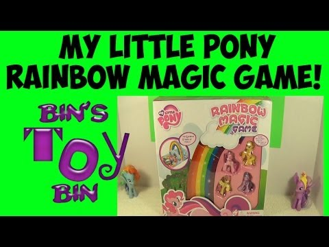 Bin Vs. Jon: My Little Pony RAINBOW MAGIC GAME! Review by Bin's Toy Bin