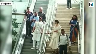 Watch: Viral video of Deepika, Ranveer at Bengaluru airport