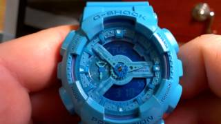 GA110B-2 Blue Hyper Color Series - Casio G-Shock Watch Review - Limited Edition / Rare