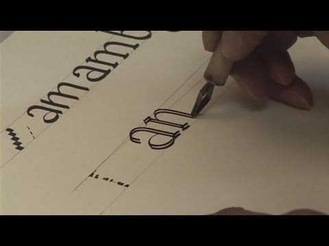How To Write A Calligraphy Alphabet