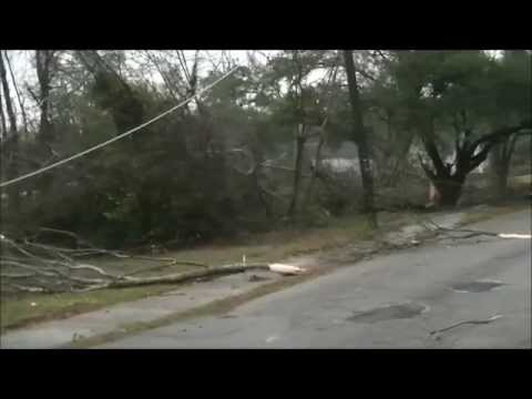 Tornado in Hattiesburg, MS - February 10, 2013 - Damage in our neighborhood