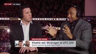 Stephen A. Reacts to Khabib ATTACKS Conor McGregor's team BRAWL at UFC 229   SportsCenter