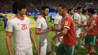 2018 FIFA World Cup Russia - Morocco vs IR Iran - Gameplay (HD) [1080p60FPS]