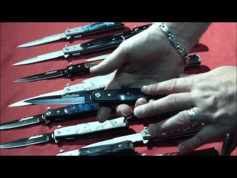 Italian Stiletto Style Spring Assist knife - Auto Knives - Knives Deal