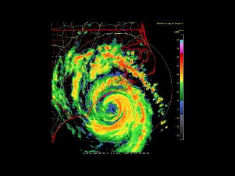 Doppler Radar - Hurricane Arthur makes landfall July 3, 2014
