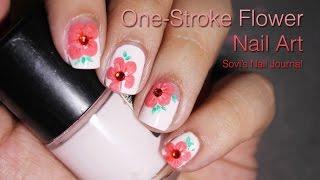 One Stroke Flower Nail Art   Sovi's Nail Journal   Dingo Video Contest 2016