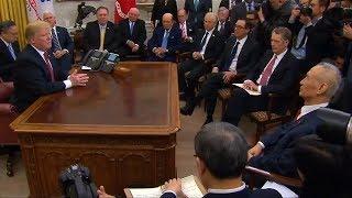 Trump touts progress in China trade talks