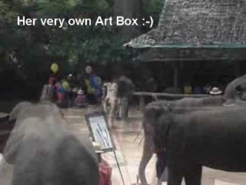 Elephants Painting Elephants in Thailand.