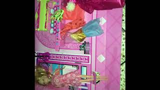 Playing with my new barbie doll box