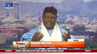 Politics In Nigeria Is Becoming An Atmosphere Of Fear - ADC Pres Candidate Pt.1 |Sunrise Daily|