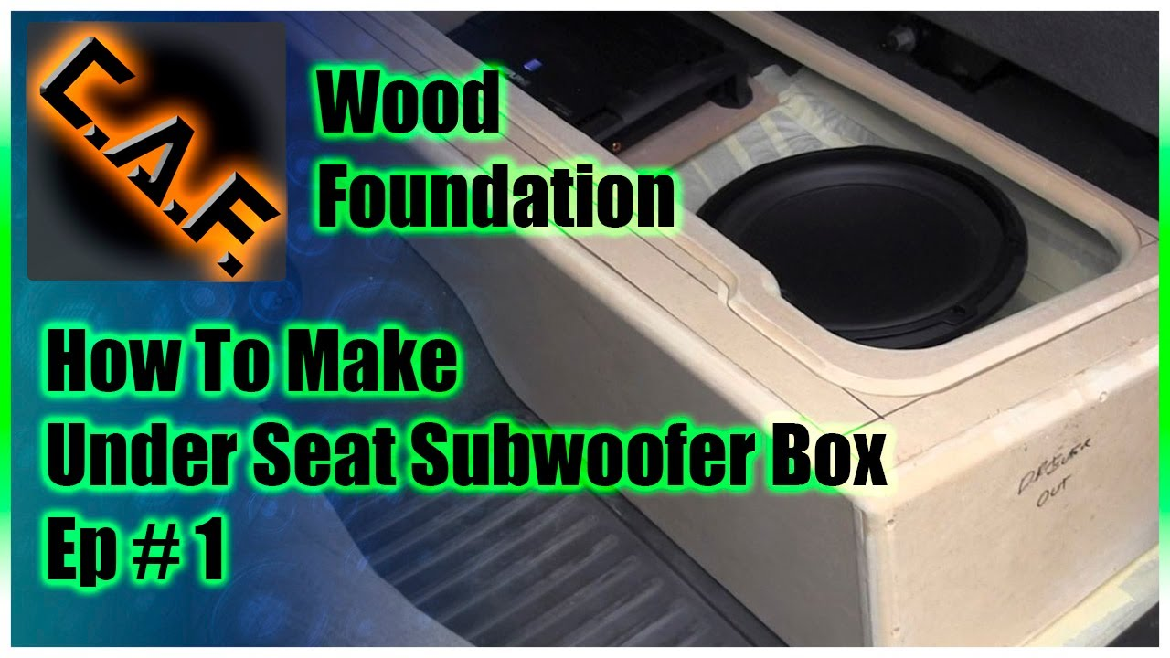 Under Seat Subwoofer Box Enclosure Video 1 Wood