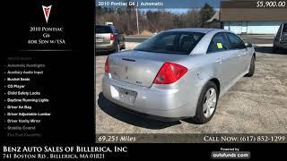 Used 2010 Pontiac G6   Benz Auto Sales of Billerica, Inc, Billerica, MA