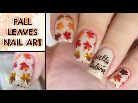 EASY FALL LEAVES NAIL ART TUTORIAL | FALL GLAM