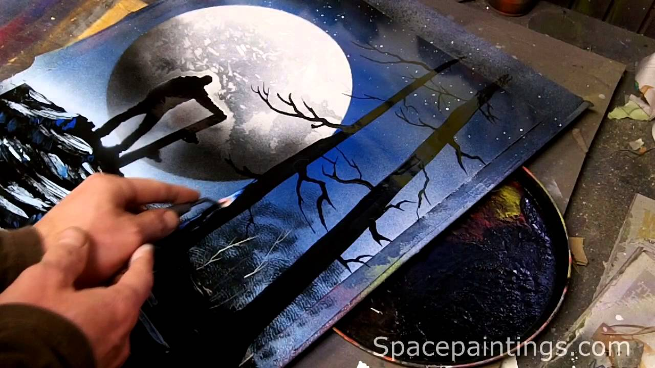 Snowboarder Spray Paint Art Youtube