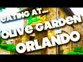 EATING AT - OLIVE GARDEN - ORLANDO - FLORIDA