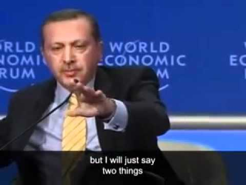 Turkish PM Blasts Israel President At Davos .mp4