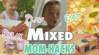 Mixed MOM Hacks - Lange Version | mamiblock x AOK NordWest | DIY Baby Toys - Relax Hacks - Eat