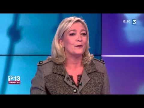 2014 Novembre 09 France 3 Marine Le Pen