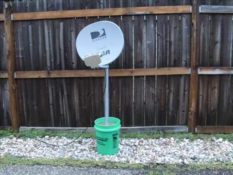 Satellite Dish Bucket Mount Youtube
