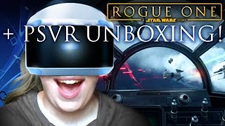 PSVR UNBOXING + STAR WARS X-WING MISSION!