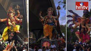 కోలాహలంగా మారిన ట్యాంక్బండ్ పరిసరాలు | Ganesh Shobha Yatra From Tank Bund | hmtv