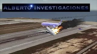 Animacion de como sucedio el accidente de vuelo 214 Asian