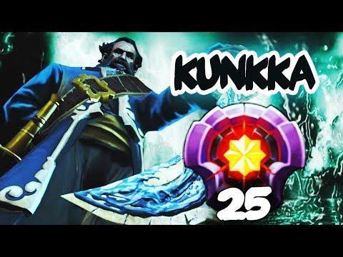 FIRST LEVEL 25 KUNKKA Divine Rank - Dota 2 EPIC Gameplay Compilation
