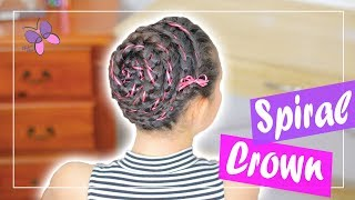 How to: Spiral Crown Braid | Hairstyles for Long Hair | Cute Girly Hairstyles