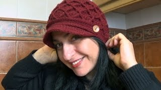 Gorro de rombos en relieve a ganchillo - Parte 1