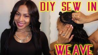 Sew In Weave Tutorial - No Glue - DIY