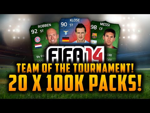 20 x 100k PACKS! w/ LIVE REACTIONS! | FIFA 14 Ultimate Team