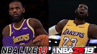 NBA Live 19 vs NBA 2K19   Sreenshots Of Los Angeles Lakers Starting 5