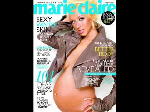 christina aguilera naked and pregnant
