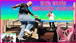 Download PLAYGROUND HIGH HEELS OBSTACLE COURSE CHALLENGE / That YouTub3 Family 3Gp Mp4