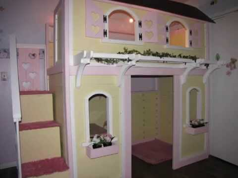 Miniature Dollhouse Doll Kits Playhouse Bunk Bed Plans