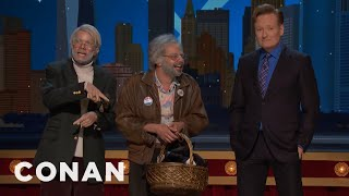 "The Stars Of ""Oh, Hello"" Give Conan A Welcome Basket  - CONAN on TBS"